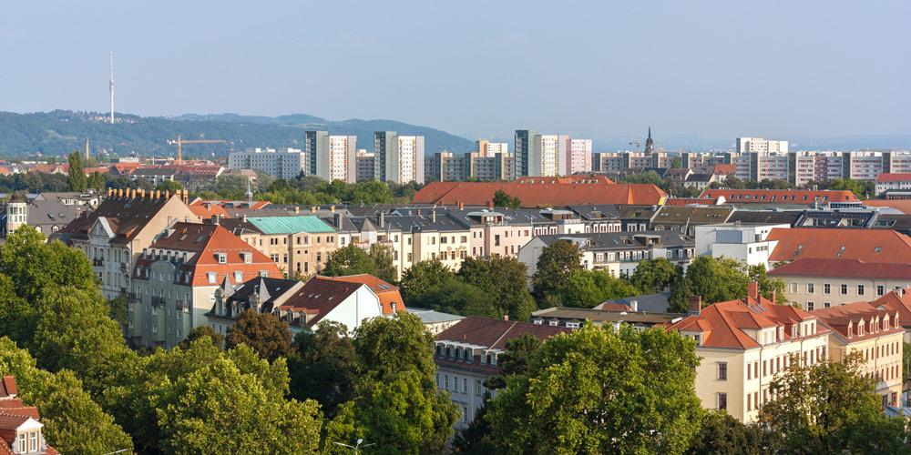 Ausblick aus dem Simmel Center Dresden