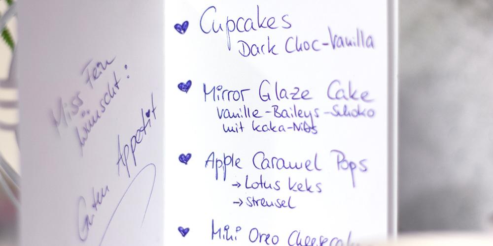 Handgeschriebene Karte Allerlei Süßkram von Miss Fein