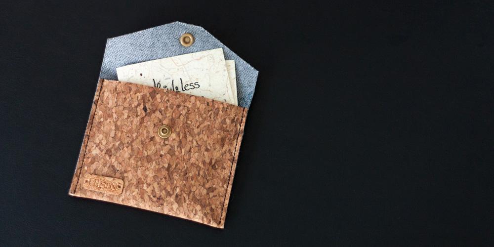 Visitenkarten-Etui aus Kork