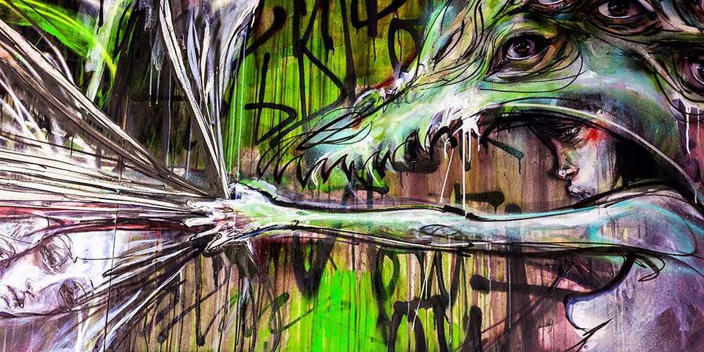 Detailansicht Graffiti