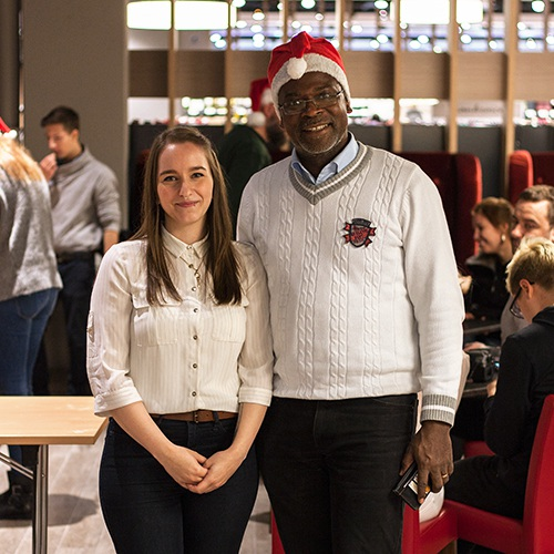 Kim-Alexandra von thinkless und Amadou Yombo Diallo von Misside Guinea
