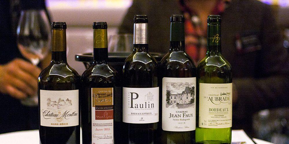 Fünf zu verkostende Weine