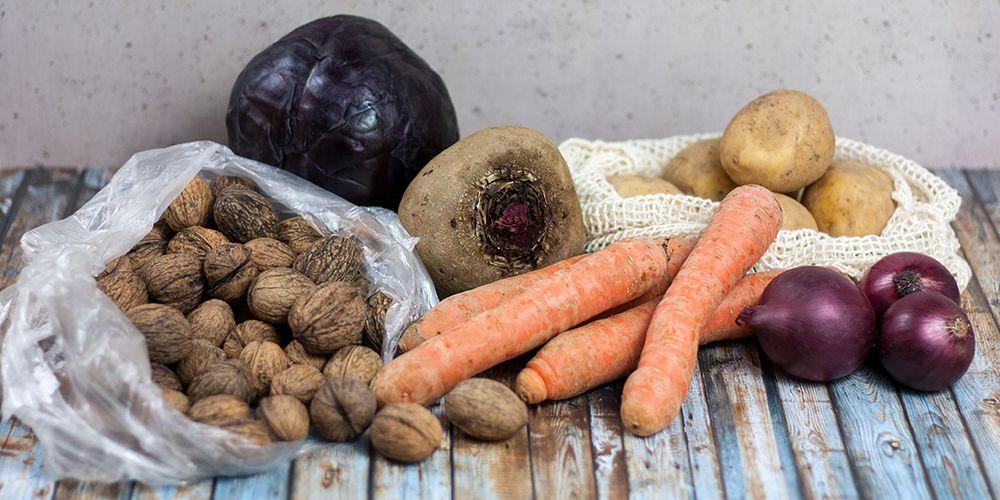 saisonale Lebensmittel von regionalen Bauern