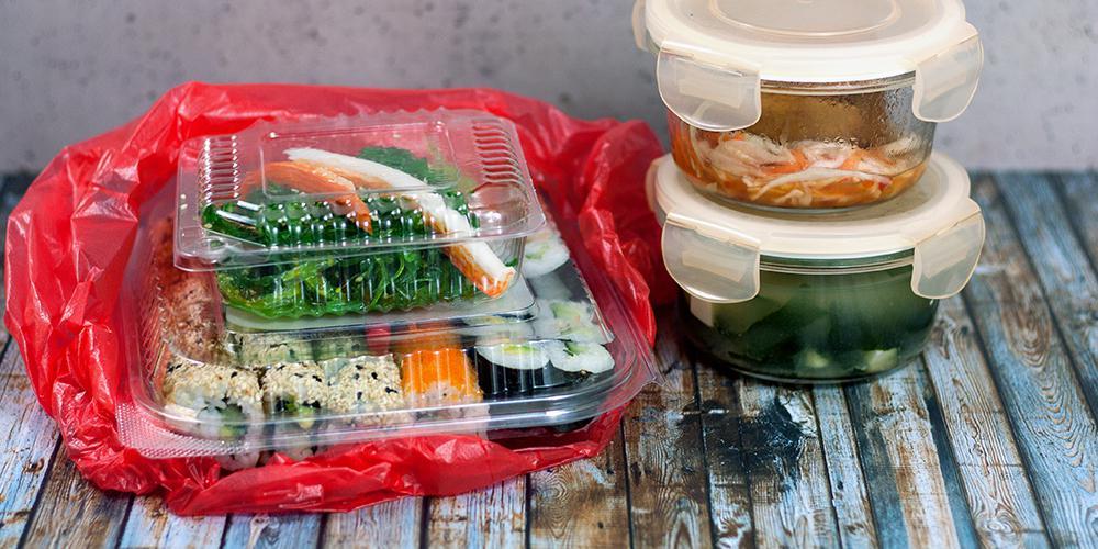 Sushi mit weniger Verpackung bestellen