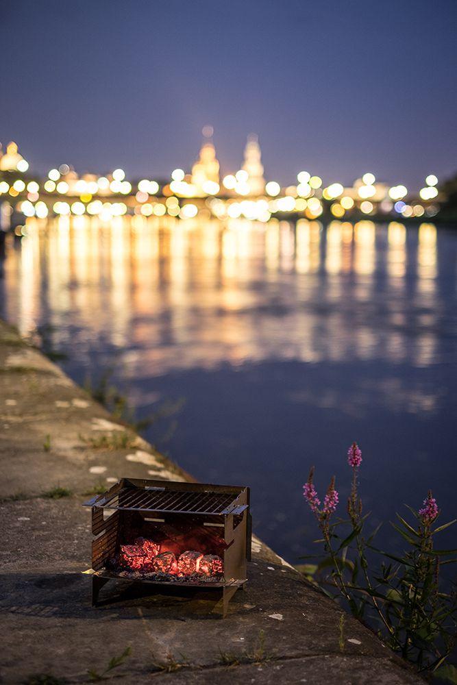 Dresden Abend Silhouette Minigrill