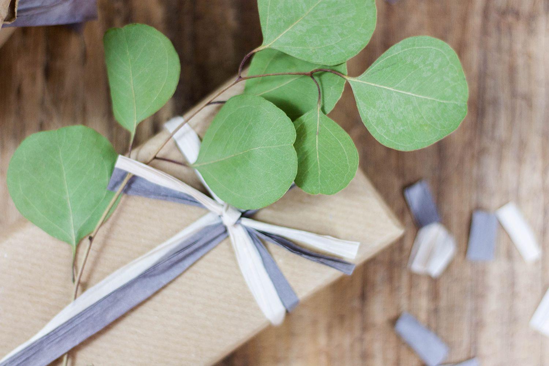 minimalistische Geschenkverpackung