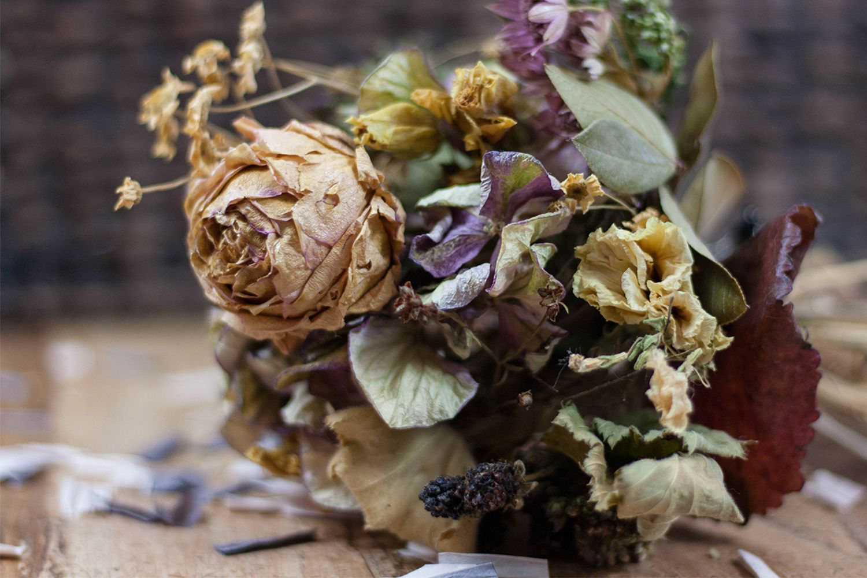 Blumenstrauß selbst trocknen