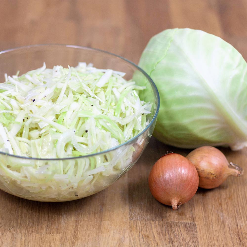 selbstgemachter Weißkohlsalat