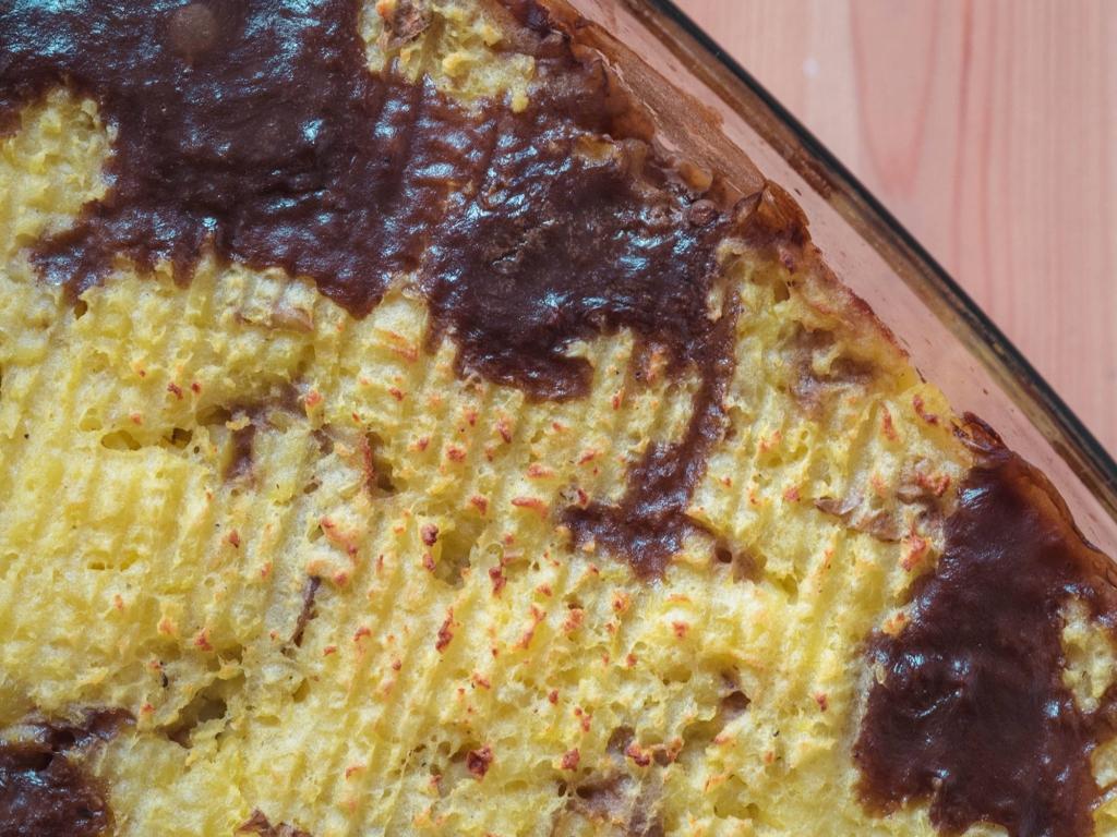 Ein einfaches vegetarisches Rezept für Shepherd's Pie